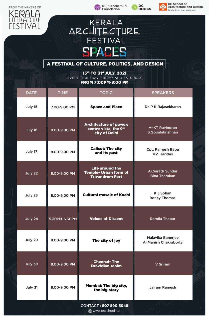 SPACES Schedule